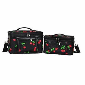 World Traveler Women's 2-Piece Cosmetic Case Set, Cherry