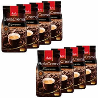 Melitta Coffee BellaCrema Espresso, Whole Beans, Pack of 8, 8 x 1000g