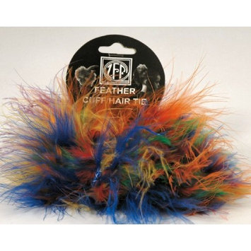 Zucker Feather 2 Vibrant Multi Colored Marabou Feather Pony Tail Holders