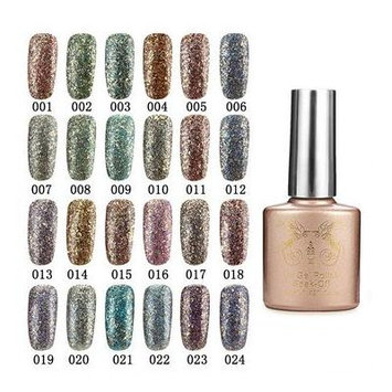 Nail Gel & Polish - 24 Colors Glitter Diamond-Sliver Micro Grain Nail Art Uv Gel Polish Soak Off Dreamlike - 1PCs