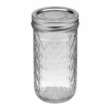 Kerr 7061000115 Quilted Crystal Jelly Jars with Lids and Bands, 12-Ounce, Set of 12 (Pack of 4)