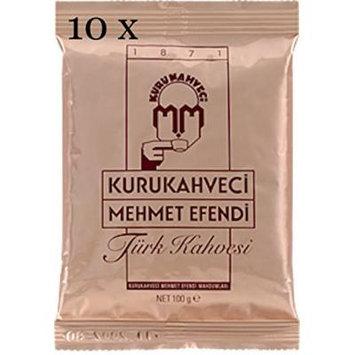 TURKISH ROASTED - GROUND COFFEE Turkish Coffee Kurukahveci Mehmet Efendi 10 X 100g