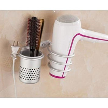 Hair Dryer Storage Organizer Rack Tools Comb Holder Wall Mounted Stand Bathroom Set by Advanced Shop