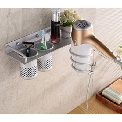 Bathroom Hair Dryer Storage Organizer Rack Comb Holder Wall Mounted Stand Kit by Advanced Shop