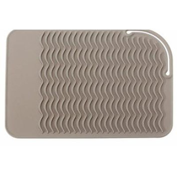 Silicone Heat Resistant Mat Anti-heat Pad With Wave Lines For Flat Iron Straightener Perm Curling Tr by Advanced (Grey)