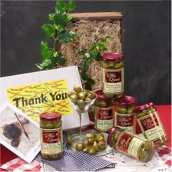 Miss Leone's Gourmet Stuffed Spanish Queen Olives Thank You Gift Set 12 oz. Jars