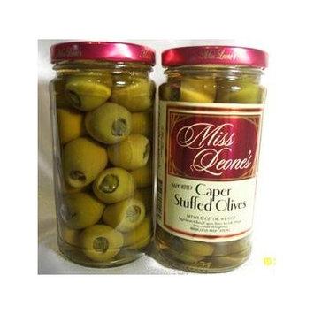 Caper Stuffed Gourmet Queen Spanish Olives 12 oz. Jar - 3 Jars