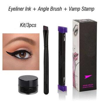 Eyeliner Tool Beauty Makeup Stamps Wing Vamp Style Kitten 10g Black 3Pcs/1Set