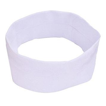 Bestpriceam Colourful Sport Yoga Elastic Turban Hair Band Headband (White)