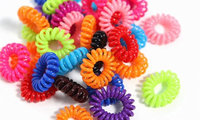 Medex Coil Rainbow Hair Ties 70-Pack