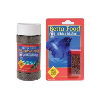 San Francisco Bay Brand ASF71430 Freeze Dried Bloodworms for Freshwater Fish, 50gm