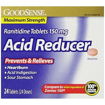 GoodSense Acid Reducer, Ranitidine Tablets, 150 mg, 24-count