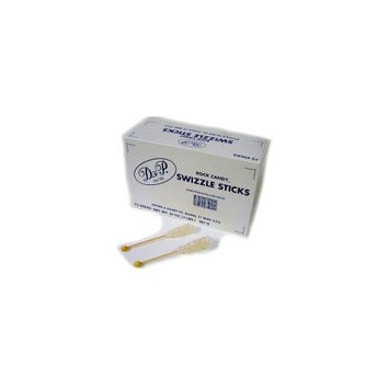 Dryden White Sugar Swizzle Sticks, 72-Count Package