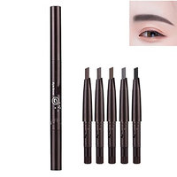 Eyebrow Pencil Waterproof Duo Ended Pencil Set of 5 Color Replaceable Head Eyebrow Pen Long Lasting Easy To Color Brow Brush Brow Pen Makeup Cosmetic Drawing Eye Brow for Girls Women 5 Color