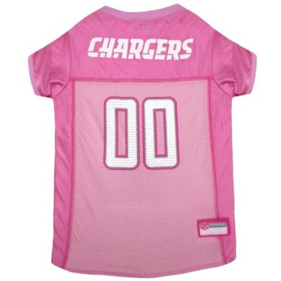 NFL Pets First Pink Pet Football Jersey - Los Angeles Chargers
