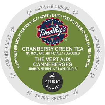 Timothy's Cranberry Twist Green Tea, K-Cup Portion Pack for Keurig Brewers (96 Count)