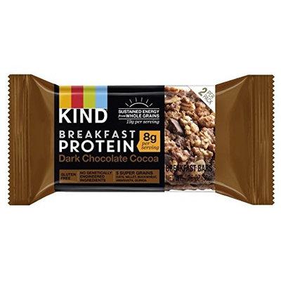 KIND Breakfast Protein Bars, Dark Chocolate Cocoa, Gluten Free, Non GMO, 1.76oz, 32 Count [Dark Chocolate Cocoa Protein]