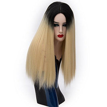 Alacos Fashion 55CM Long Straight Synthetic Christmas Costumes Cosplay Wigs for Women +Free Wig Cap (Light G
