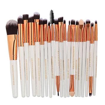 DMZ 20Pc Makeup Brushes Set Powder Foundation Eyeshadow Eyeliner Lip Cosmetic Brush