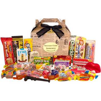 Candy Crate Newsprint 1950s Retro Candy Gift Box