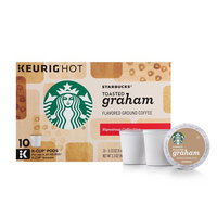 Starbucks Toasted Graham Flavored Blonde Light Roast Single Serve Coffee for Keurig Brewers, 6 Boxes of 10 (60 Total K-Cup pods)