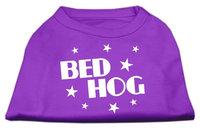 Mirage Pet Products 5104 LGPR Bed Hog Screen Printed Shirt Purple Lg 14