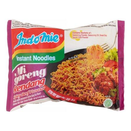 Indomie Mi Goreng Rendang Fried Noodles Spicy Beef