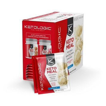 KetoLogic Keto Meal Replacement MCT Shake – Promotes Weight Loss/Suppresses Appetite/Low Carb – Vanilla, 10 Servings [Vanilla]