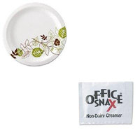 KITDXEUX9WSPKOFX00022 - Value Kit - Ragold/Office Snax 00022 Powder Coffee Creamer Packets (OFX00022) and Dixie Pathways Mediumweight Paper Plates (DXEUX9WSPK)