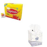KITGEP46580BXLIP291 - Value Kit - Georgia Pacific Premium Facial Tissue (GEP46580BX) and Lipton Tea Bags (LIP291)