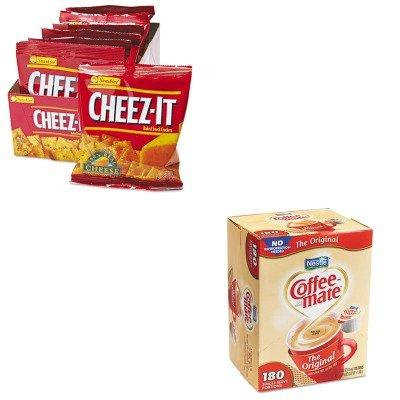 KITKEB12233NES753032 - Value Kit - Coffee-mate Liquid Coffee Creamer, Original (NES753032) and Kellogg's Cheez-It Crackers (KEB12233)