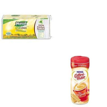 KITMRC6506NES55882 - Value Kit - Coffee-mate Original Flavor Powdered Creamer (NES55882) and Marcal 100% Premium Recycled Luncheon Napkins (MRC6506)