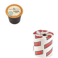 KITBWK6180GMT6992CT - Value Kit - Green Mountain Coffee Roasters Caribou Blend Coffee K-Cups (GMT6992CT) and White 2-Ply Toilet Tissue, 4.5quot; x 3quot; Sheet Size (BWK6180)