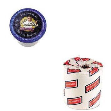KITBWK6180TWCPB4137 - Value Kit - Timothy's World Coffee Emeril's Big Easy Bold Coffee K-Cups (TWCPB4137) and White 2-Ply Toilet Tissue, 4.5quot; x 3quot; Sheet Size (BWK6180)