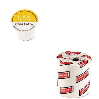 KITBWK6180GMT6805CT - Value Kit - Green Mountain Coffee Roasters Caf Escapes Chai Latte K-Cups (GMT6805CT) and White 2-Ply Toilet Tissue, 4.5quot; x 3quot; Sheet Size (BWK6180)