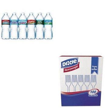 KITDXEFH207NLE101243PLT - Value Kit - Nestle Bottled Spring Water (NLE101243PLT) and Dixie Plastic Cutlery (DXEFH207)