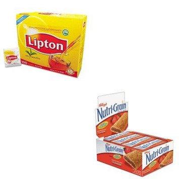 KITKEB35945LIP291 - Value Kit - Kellogg's Nutri-Grain Cereal Bars (KEB35945) and Lipton Tea Bags (LIP291)