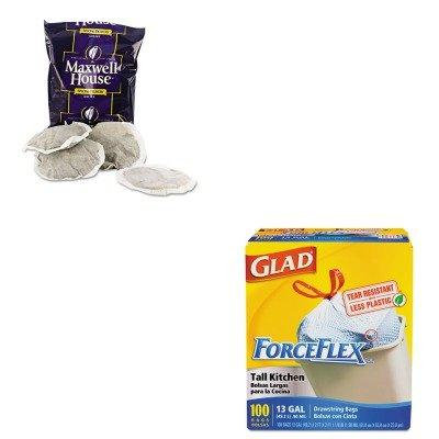 KITCOX70427MWH862400 - Value Kit - Maxwell House Coffee (MWH862400) and Glad ForceFlex Tall-Kitchen Drawstring Bags (COX70427)