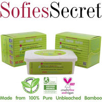 Moist Towel Services SofiesSecret Unbleached Bamboo DRY Wipes, Extra Thick. XXL, 2 Refills & 1 FREE TUB, 120 Count? Multi-Use: Beauty, First Aid, Baby, Cleaning, Ultra Soft 8in. X 12in.