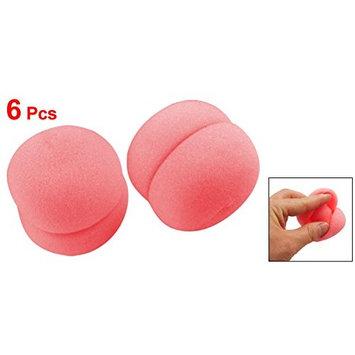 uxcell® 6 Pcs Pink Sponge Ball Hair Styler Curler Roller for Lady
