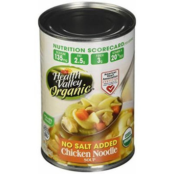 Healthy Valley Chicken Noodle Soup No Salt 15 Oz (Pack of 12) - Pack Of 12