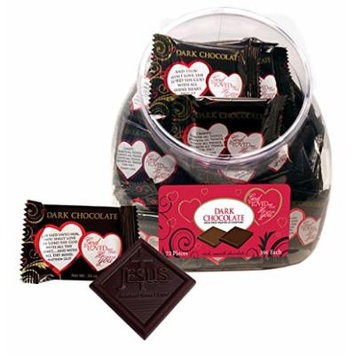 Scripture Candy 121772 Candy - V-God So Loved Me Jar-Dark Chocolate Squares