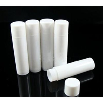 Yosoo 100pcs Mini Lip Gloss Tube Lip Balm Cute Bottle Empty Cosmetic Gloss Container Tube Travel Gloss for Split Charging DIY with Caps (White)
