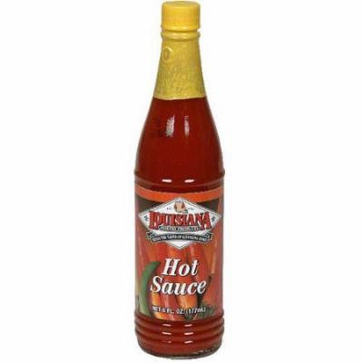 Louisiana Fish Fry Products Hot Sauce 6 oz (Pack of 12)