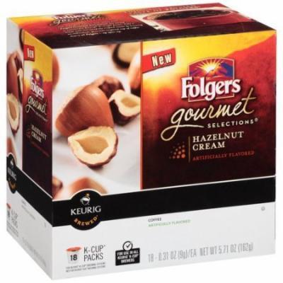 Folgers Gourmet Selections Hazelnut Cream Coffee K-Cup Packs 0.31 oz 18 ct