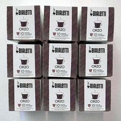 Bialetti Coffee Barley Compatible Nespresso - Set 9 packages of 10 capsules - Gold