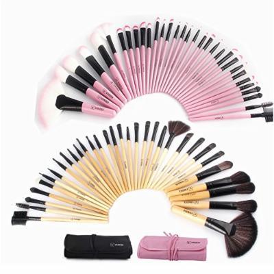 VANDER 32Pcs Set Professional Makeup Brush Foundation Eye Shadows Lipsticks Powder Make Up Brushes Tools w/ Bag pincel maquiagem (Pink)