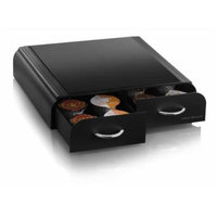 Mind Reader AnchorCoffee Pod Storage Drawer for Tassimo T-Discs ,Vertuoline Nespresso Capsules- Black by Mind Reader