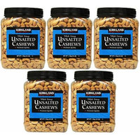 Kirkland Signature Unsalted Cashews, 2.5 Pound (5 Pack)