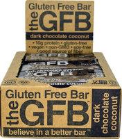 The Gluten Free Bar The GFB™ Dark Chocolate Coconut - 12 Bars pack of 4